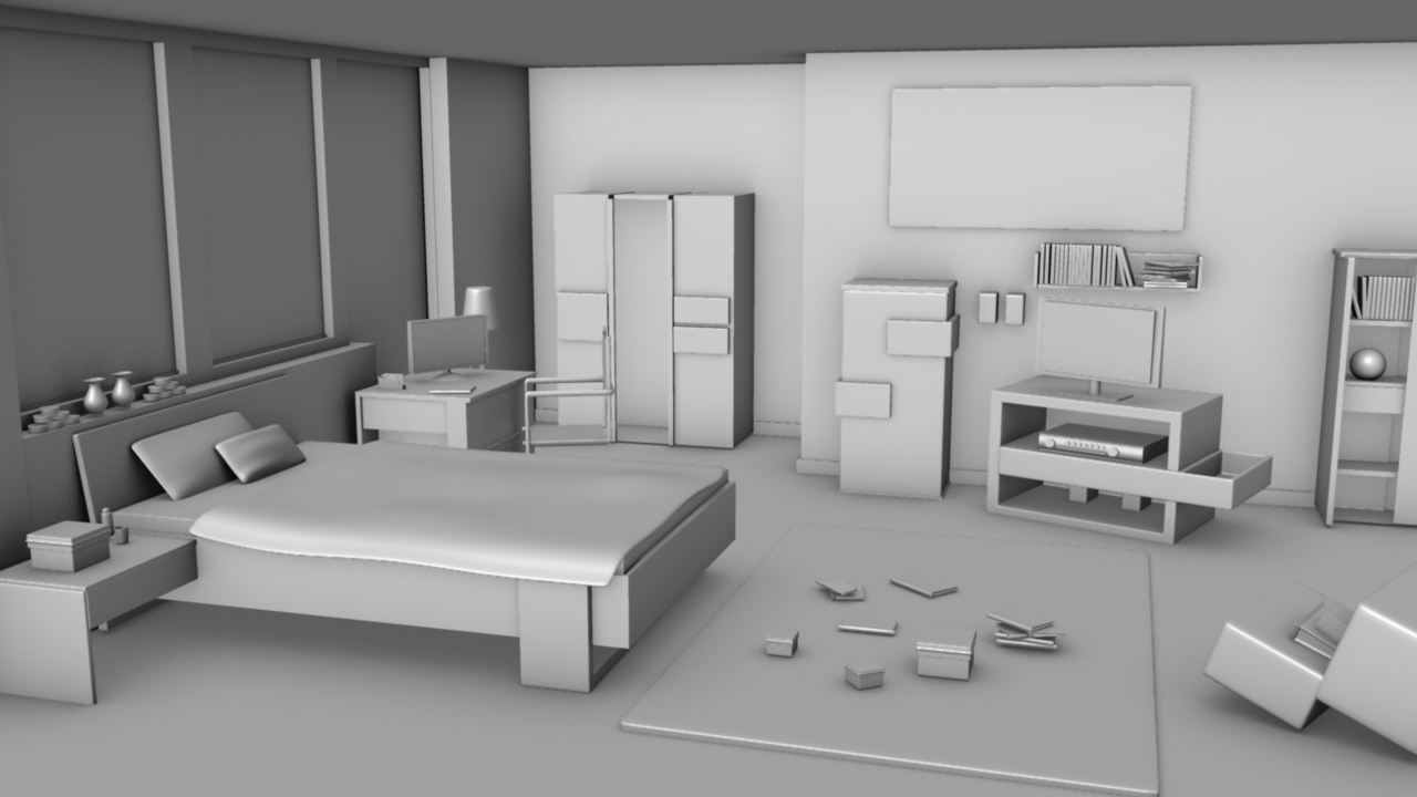 3d modeling - Model designer interiors ...