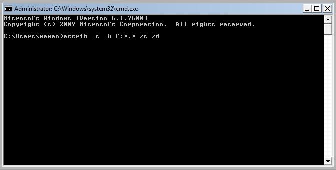 Mengembalikan Folder Yang di Hidden Oleh Virus Pada Flashdisk