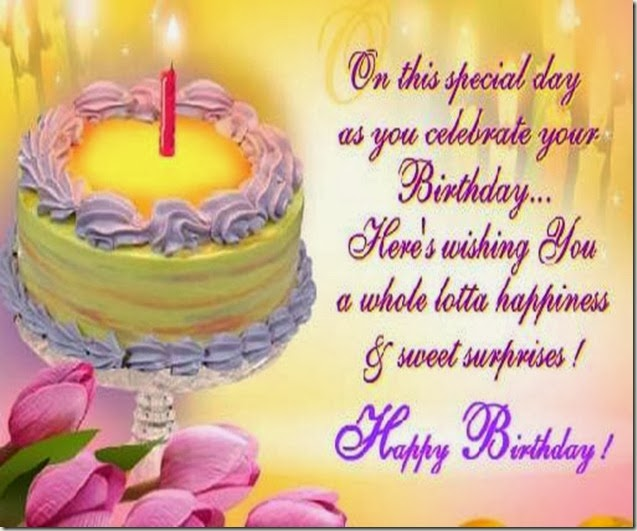 Birthday sms to a loved one
