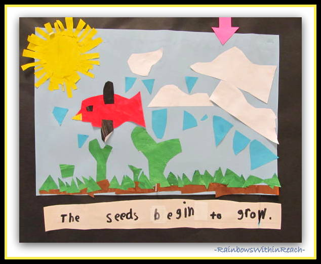 "photo of: Collaborative Mural of Eric Carle's ""Tiny Seed"" (Eric Carle RoundUP at RainbowsWithinReach)"