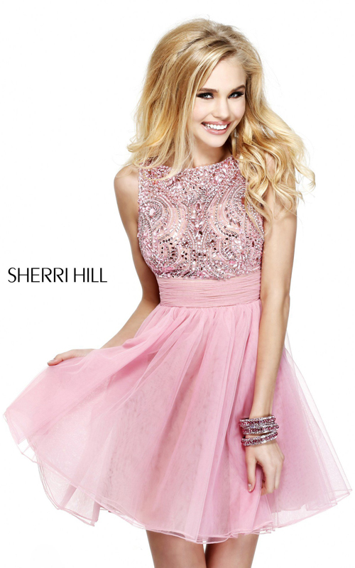 2016 Sexy Prom Gown: Sherri Hill 11032 Short Sweet 16 Party Dress