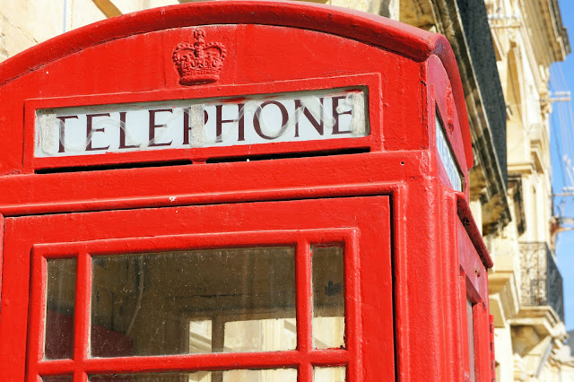 british telephone box malta gozo