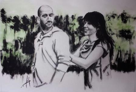 Obra por encargo. Grafito y Gouache 2013