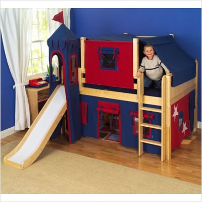 Fantastic Full Low Loft Castle Bed, Image