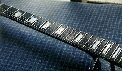 marcação LP em guitarra custom,