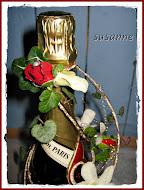 blomdeko på flaska