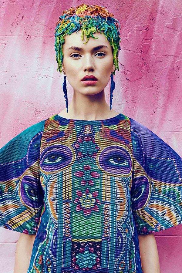 rainbow hair bright fashion
