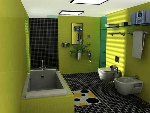 interior bernuansa hijau