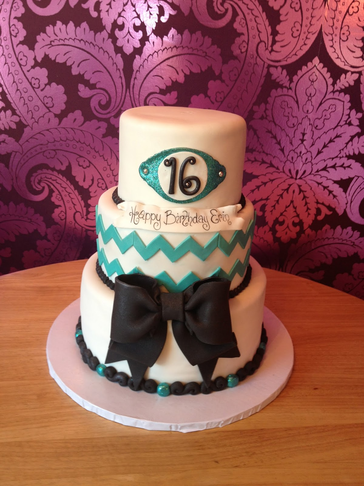 Bake My Day The Cake Boutique Cake Friday Chevron Chic