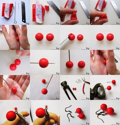 passo à passo brincos artesanais