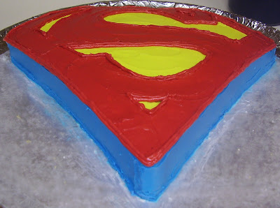 Superman Logo Cake