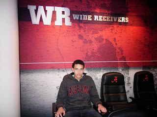 2014 WR & Alabama commit, Derek Kief in the WR Room during his official visit