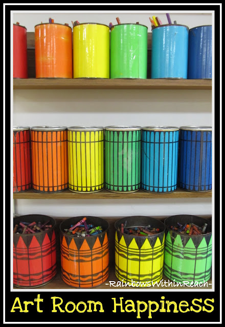 photo of: Art Room Color Buckets (via Art Room RoundUP from RainbowsWIthinReach)