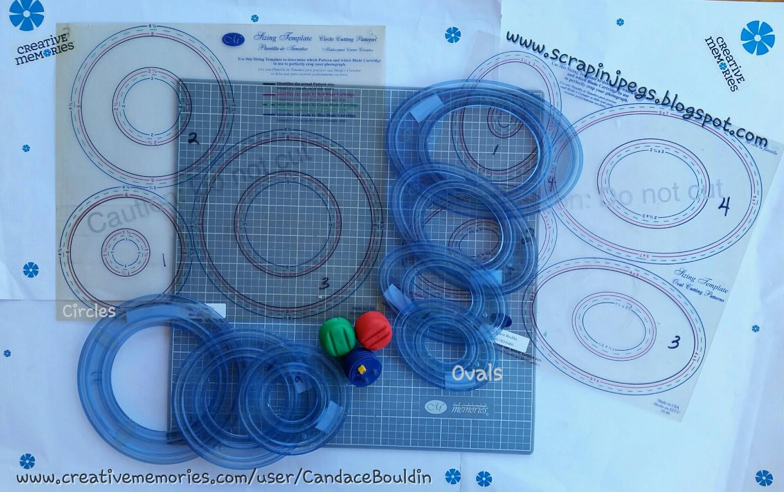 Circle Custom Cutting System Patterns 3//pk by Creative Memories