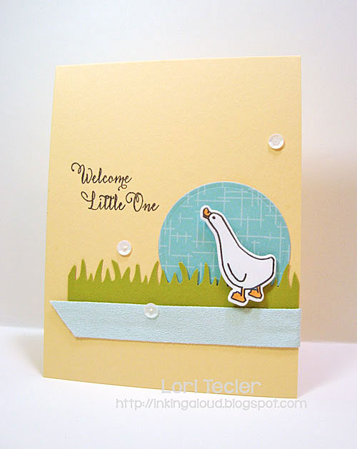 Welcome Little One card-designed by Lori Tecler/Inking Aloud-stamps from Avery Elle