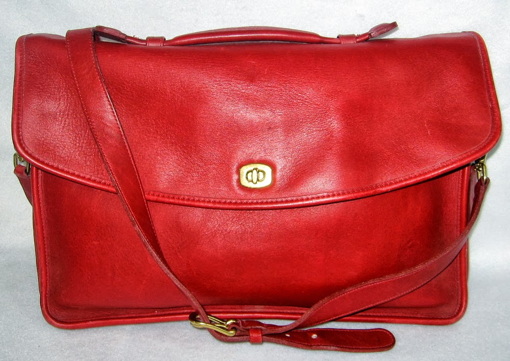 Red Coach Briefcase