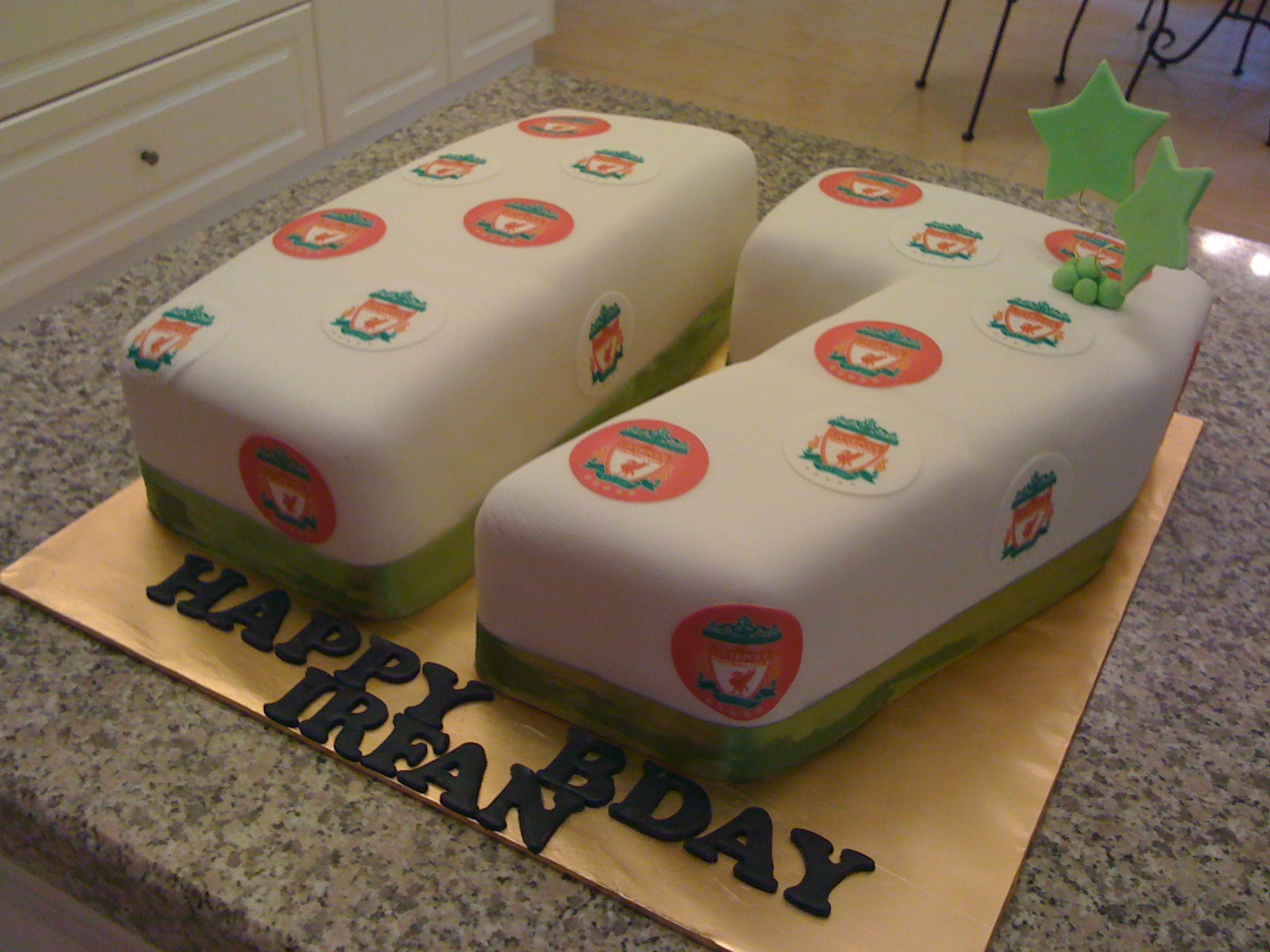 CAKE CUPBOARD: Seventeen Cake for Irfan - for a Liverpool ...