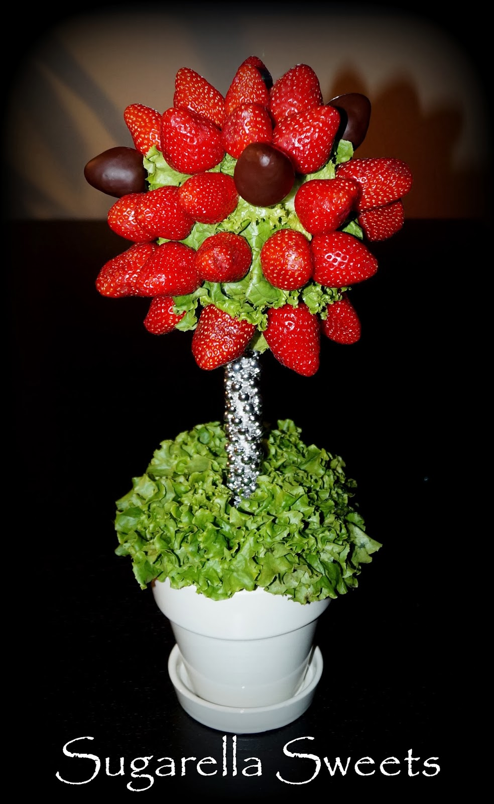 Edible fruit arrangement, how to make a strawberry topiary tree