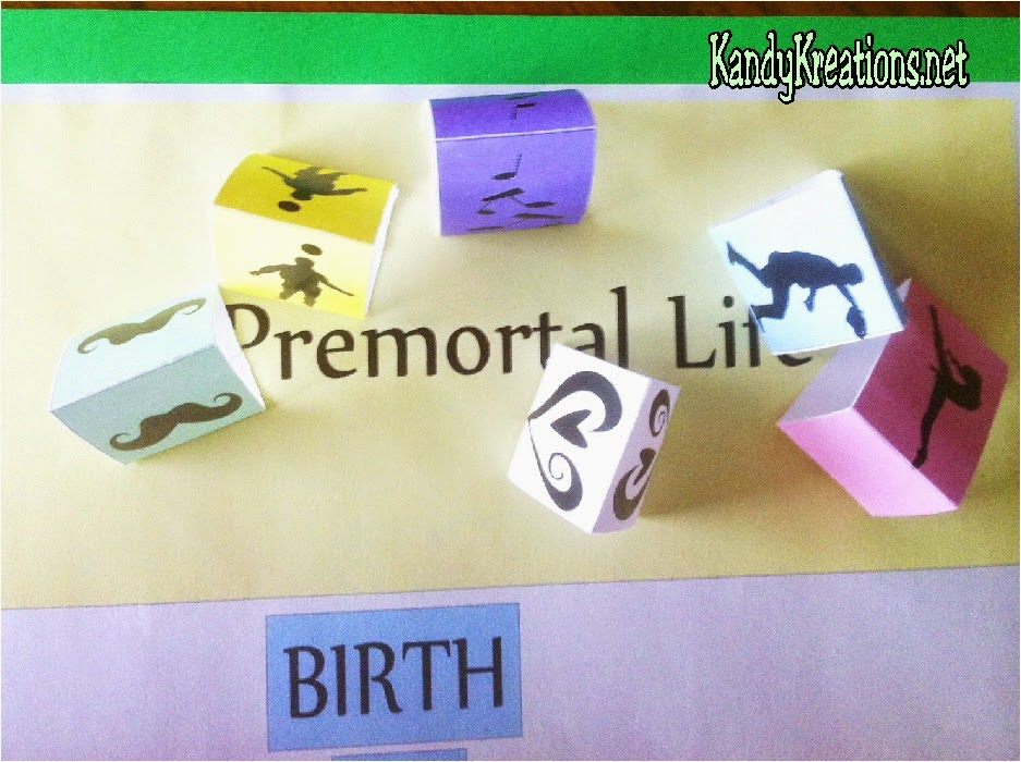 Premortal Life in the Plan of Salvation Board Game. Free Printable board game and ideas to teach for FHE or YM/YW activity.