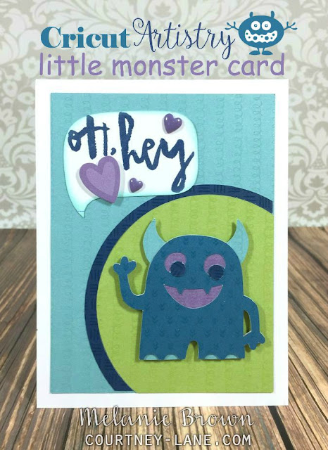 Cricut Artistry Little Monster card