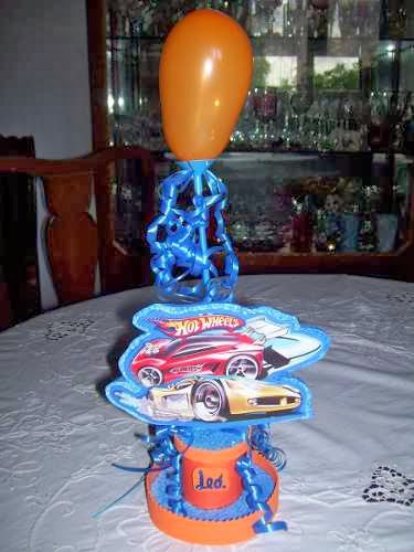 Centros de Mesa Hot Wheels, parte 1