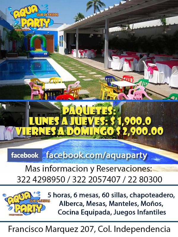 Puerto vallarta y riviera nayarit salon de fiestas con for Albercas para fiestas