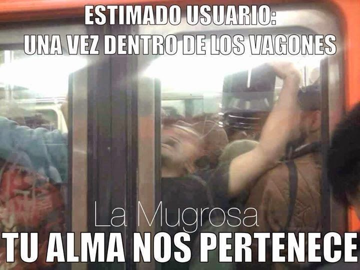 Dentro de los vagones del metro…