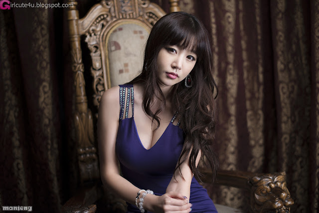 1 Hong Ji Yeon in Purple-Very cute asian girl - girlcute4u.blogspot.com