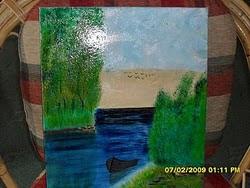 ulje na platnu-Vladisav Bogicevic slikar Luna-Nis