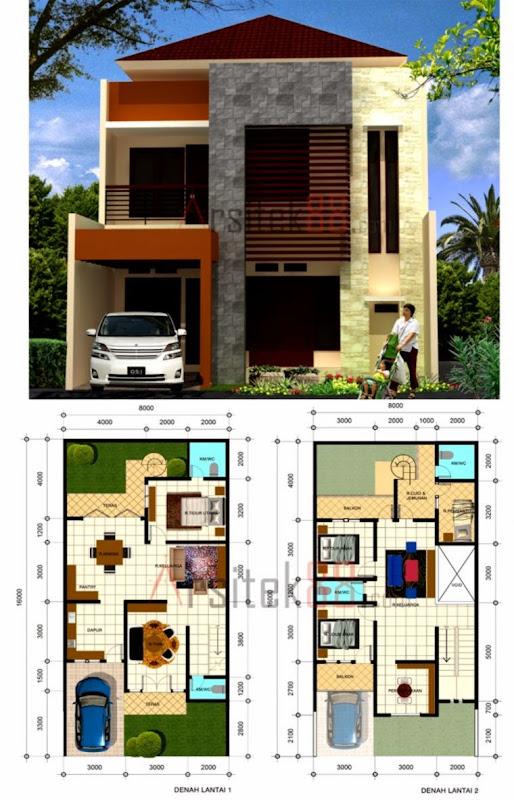 Download Ide Desain Rumah Dua Lantai Minimalis Dalam  Gambar Rumah