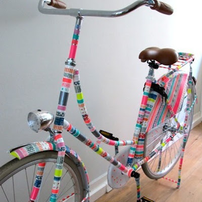 Miss Chaela Boo: Pimp your ride - washi tape bike by schoolactie