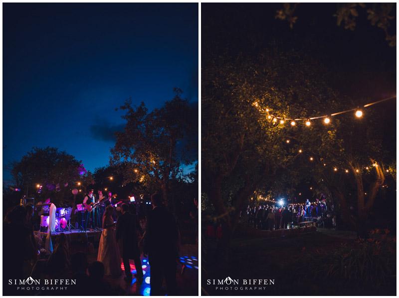 Night time at a  wedding Rougmoor Farm
