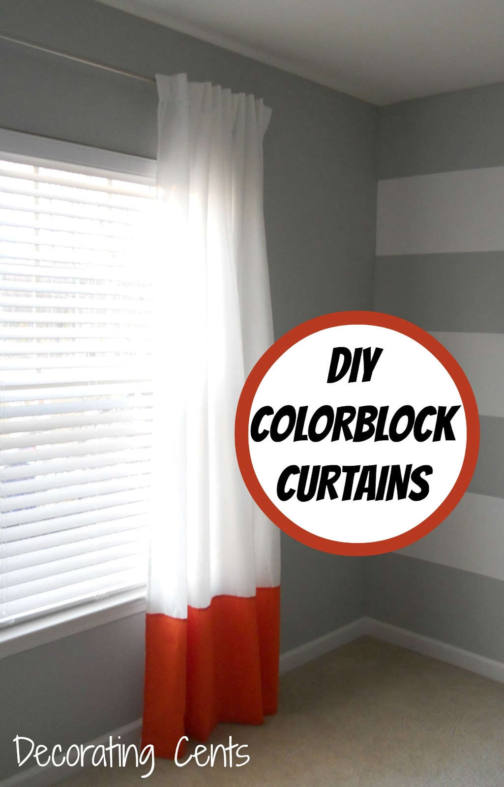 Orange color block curtains - Orange Color Block Curtains 33