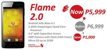 cherry mobile flame 2.0, cherry mobile