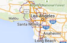 mapa Aeropuerto Internacional de Los Ángeles