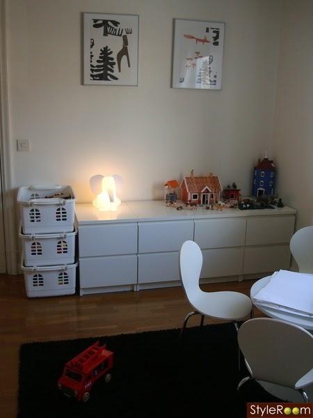 Alinear 4 mesillas malm de ikea para crear una c moda a la medida de los peques baby deco - Dormitorio malm ikea ...