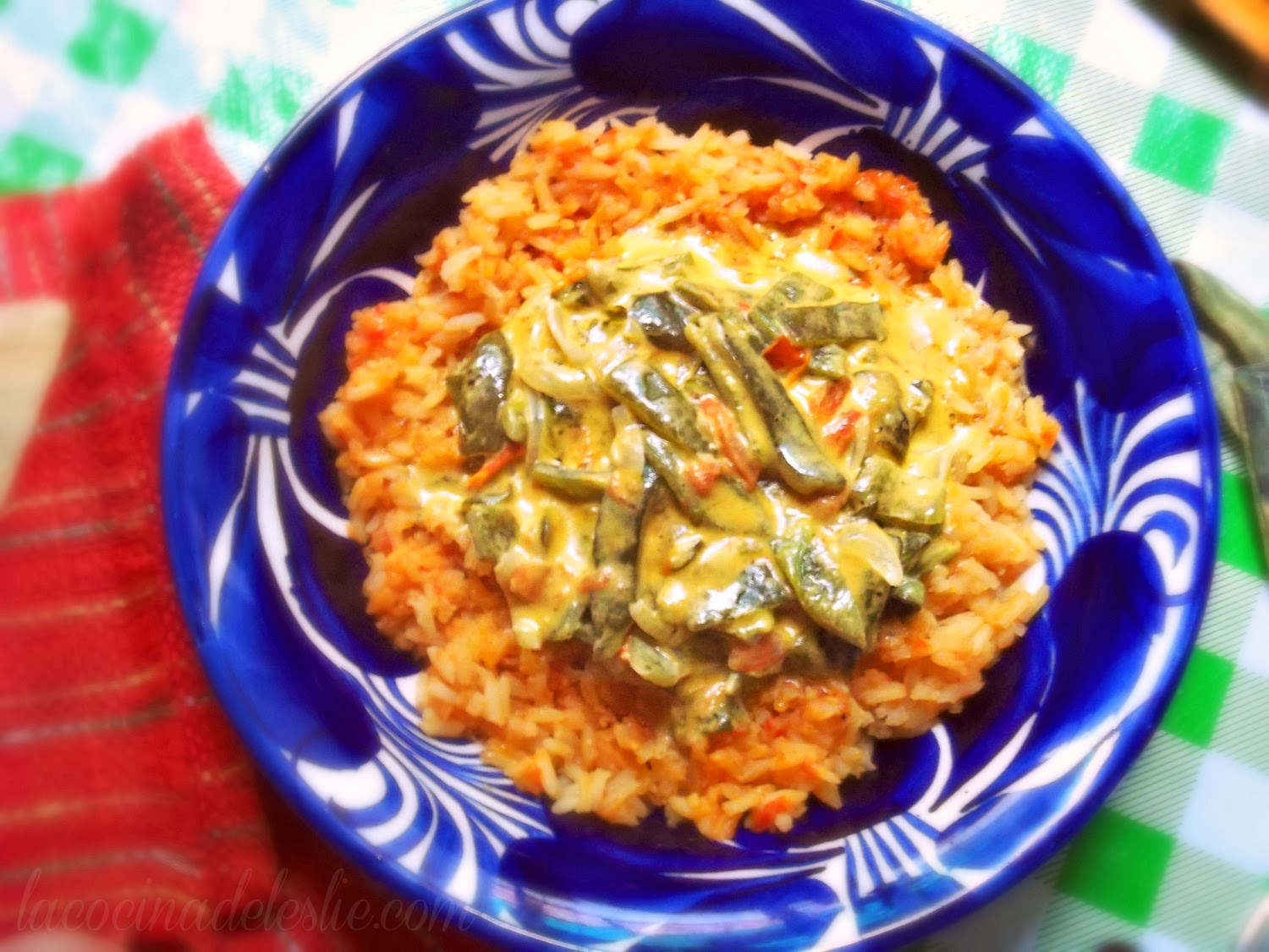 Cheesy Roasted Poblanos (Rajas Con Crema) Recipe — Dishmaps