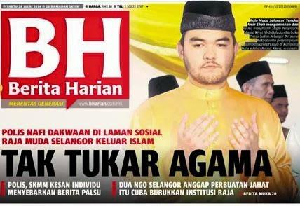 Tengku Amir Nafi Berita Tukar Agama Benar