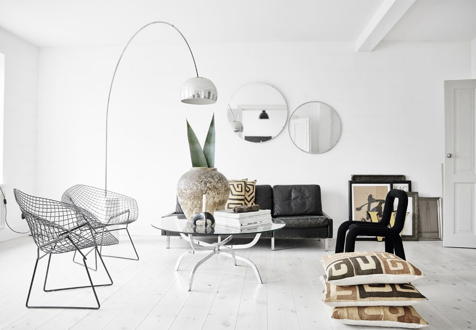 Design Attractor Spectacular White Interior With Modernist And