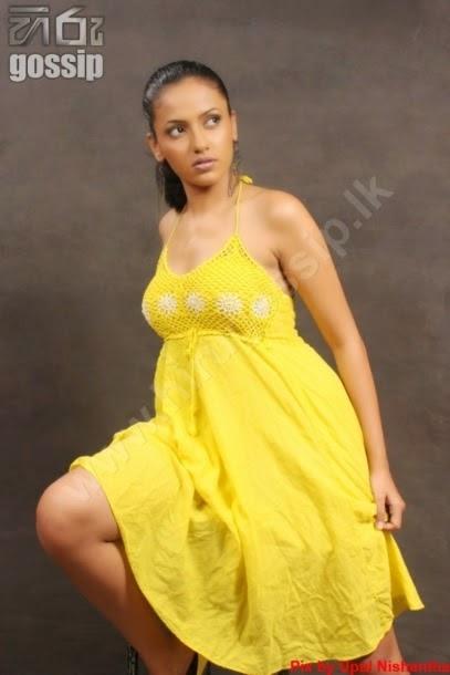 udari warnakulasooriya sexy yellow