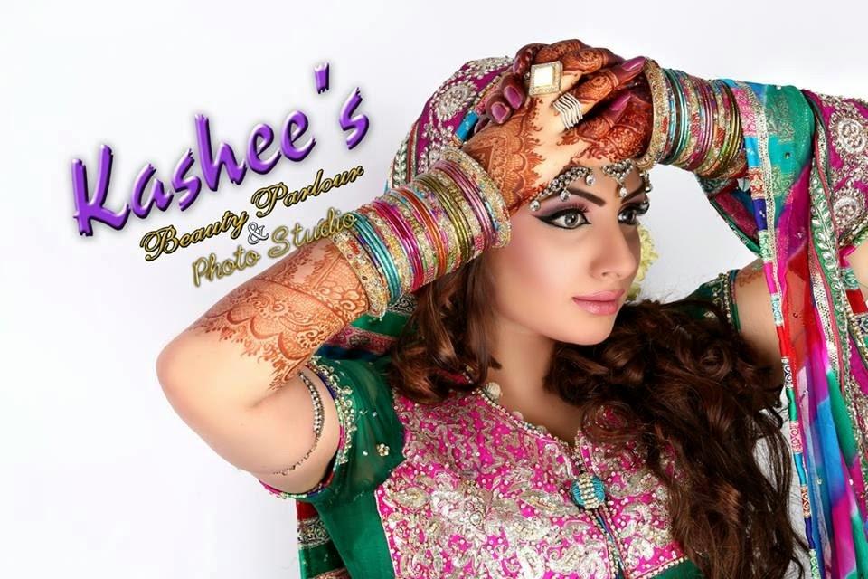 Mehndi Designs 2014-2015 For Wedding   Bridal Mehndi & Makeup Designs 2014 By Kashee's Saloon