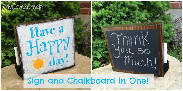 MyLove2Create, Sign and Chalkboard in One