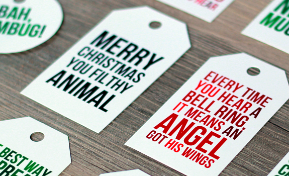 printable Christmas movie quote gift tags │ thehappytulip.com