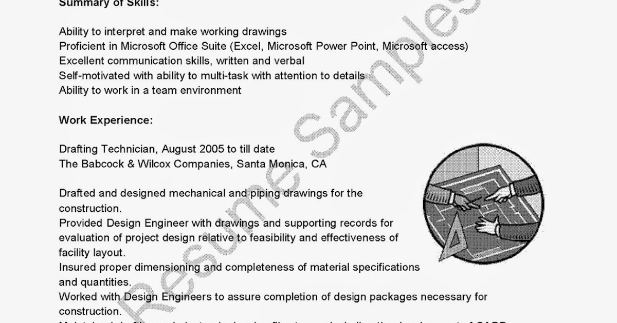 drafting resume examples resume samples drafting technician sample examples ictonyx behold the power drafting resume
