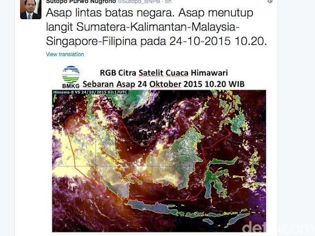 Kabut Asap Indonesia Lintasi Berbagai Negara