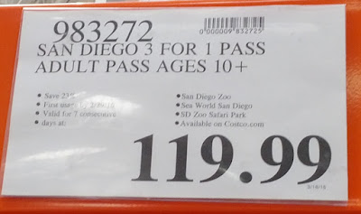 Deal for San Diego 3-for-1 Pass at Costco