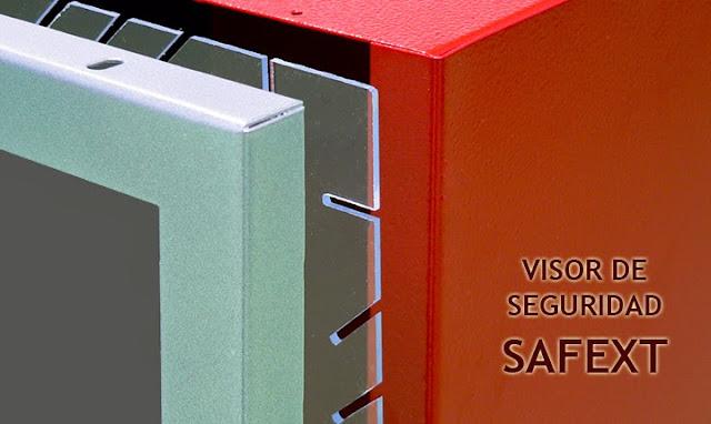 Cristales de seguridad SAFEXT, armarios extintor, bies.
