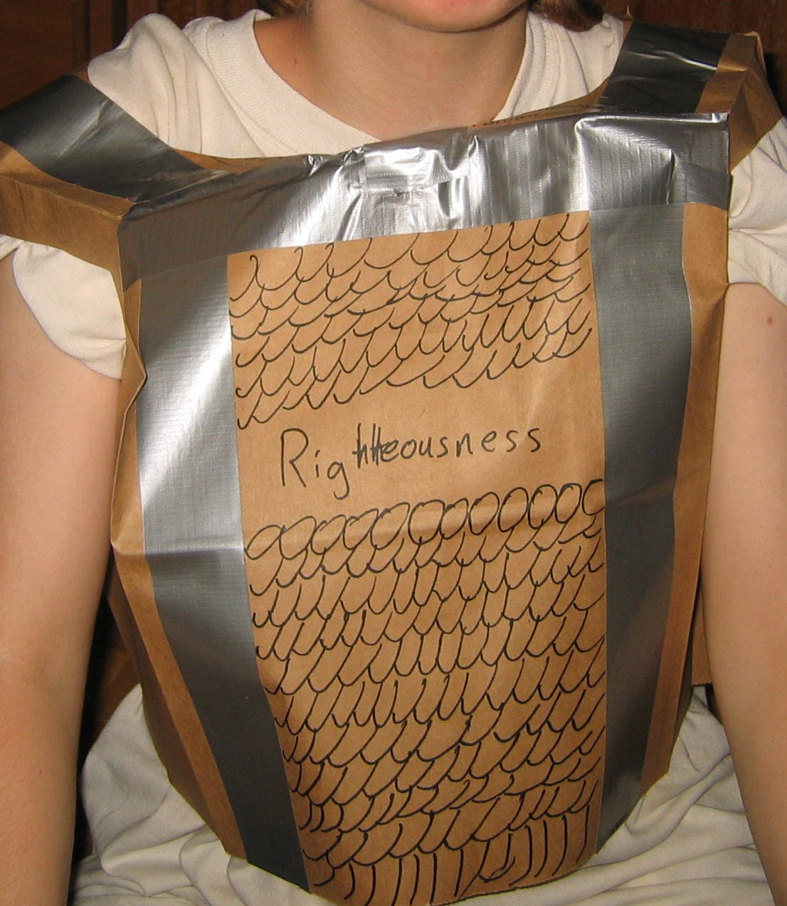 Breastplate Of Righteousness Preschool Craft