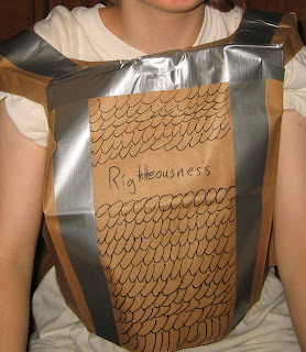 Breastplate Of Righteousness Craft Paper Bag