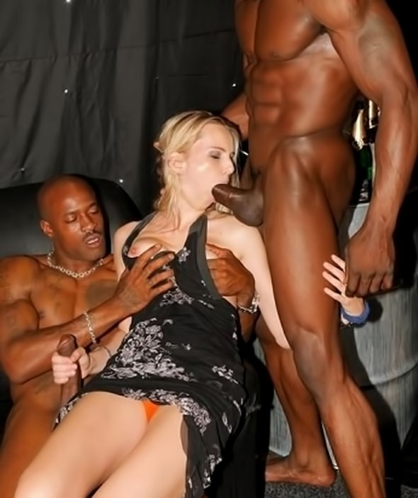 image Blonds slave sucks her bbc lover